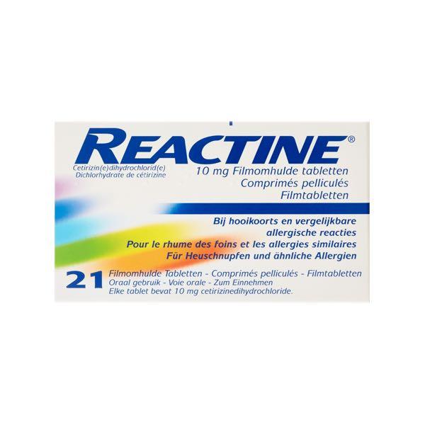 Reactine Hooikoorts Tabletten